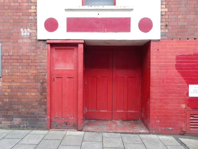 Side doors (in need of a little TLC), Bristol Hippodrome, December 2019