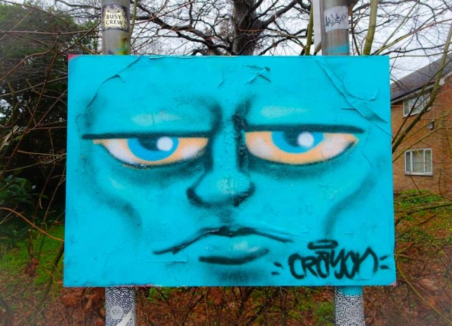 Kid Crayon, M32 roundabout, Bristol, January 2020