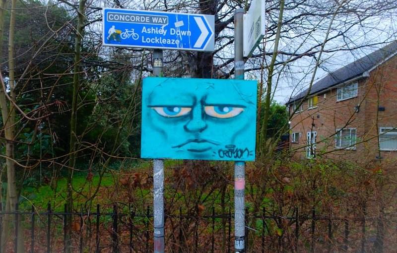 Kid Crayon, M32 roundabout, Bristol, January 2020
