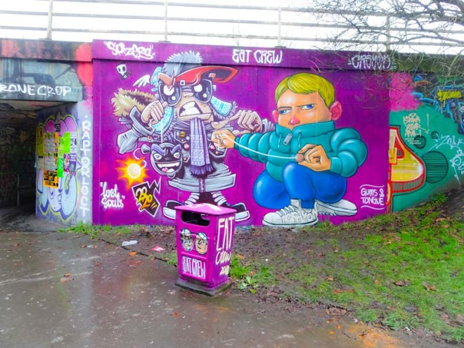 SPZero76 and Kid Crayon, M32 roundabout, Bristol, January 2020
