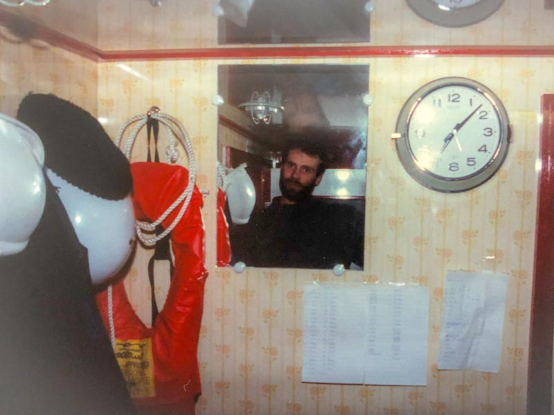 My cabin, Koei Maru 30, Falkland Islands 1988