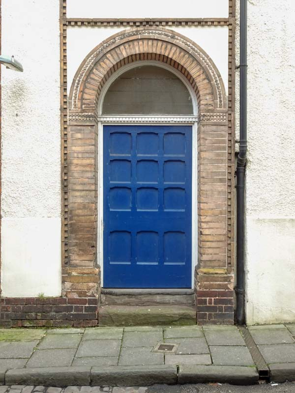 Unusual panelled door, Bristol, December 2019