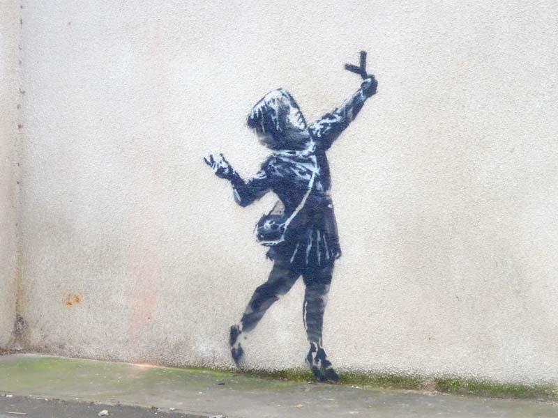 Banksy, Marsh Lane, Bristol, February 2020