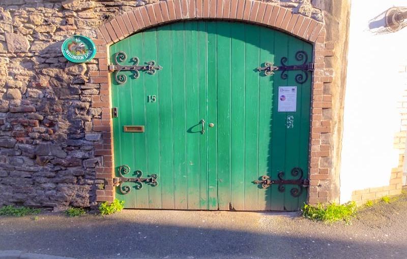 Green gates, Montpelier, Bristol, March 2020
