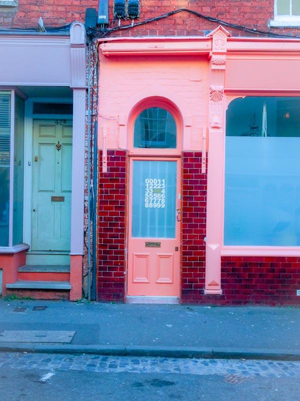 Pink door, Montpelier, Bristol, March 2020