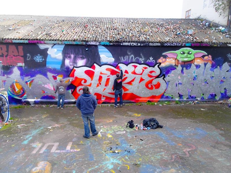 Soker, Inkie and Hemper, Dean Lane, Bristol, March 2020