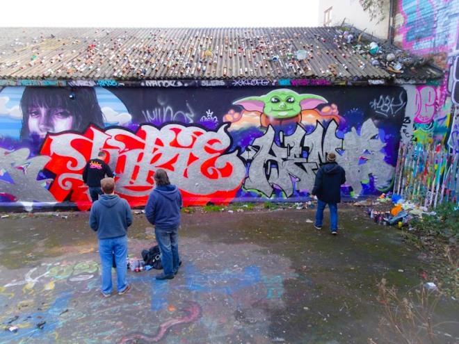 Inkie and Hemper, Dean Lane, Bristol, March 2020