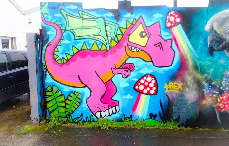 T-Rex, Alfred Street, Bristol, March 2020