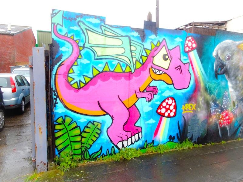 T-Rex, Alfred Street, Bristol, March 2020
