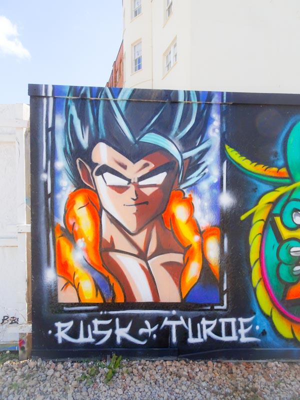 Turoe One and Rusk, Paint Festival 2019, Cheltenham, September 2019