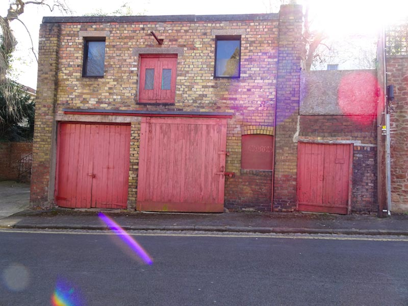 Multiple doors, Gibson Road, Bristol, March 2020