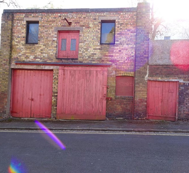 Multiple doors, Gibson Road, Bristol, March 2020