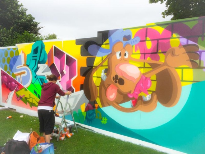SkyHigh and Roo, Upfest 2016, Bristol, July 2016