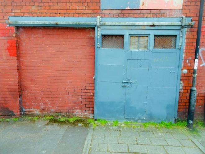 Door within a sliding door, Montpelier, Bristol, March 2020