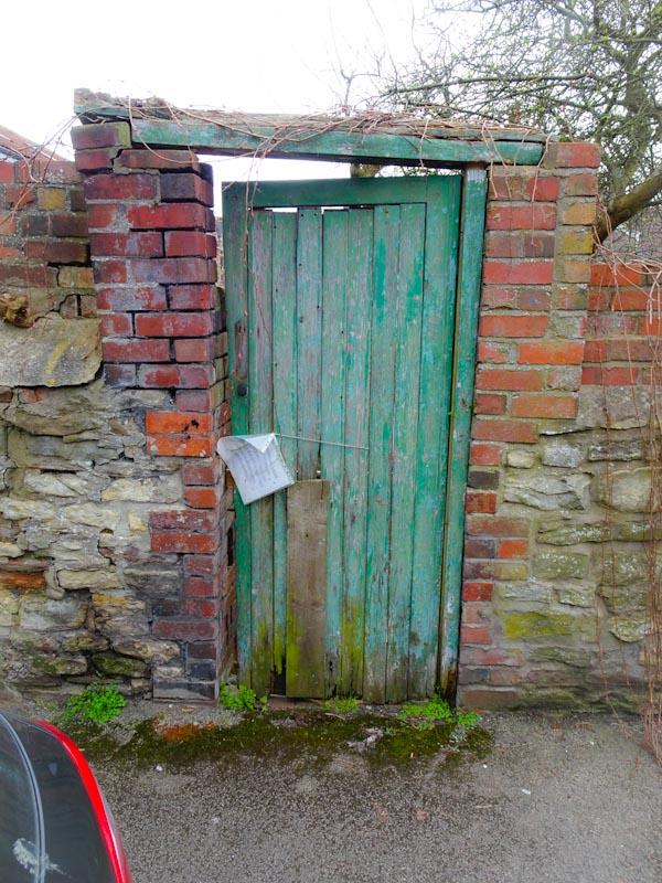 Garden gate, Montpelier, Bristol, March 2020