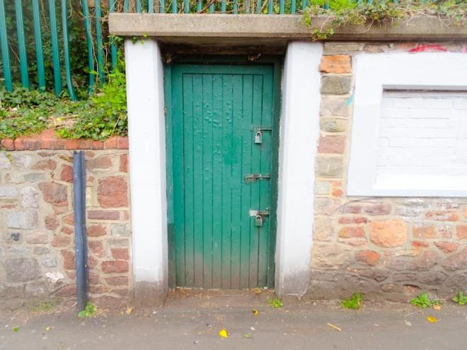 Utility door, Montpelier, Bristol, March 2020