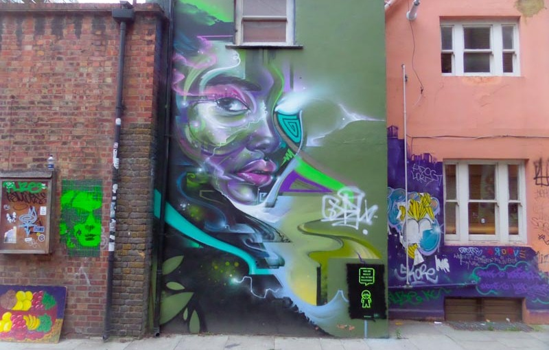 Mr Cenz, Shoreditch, London, August 2016