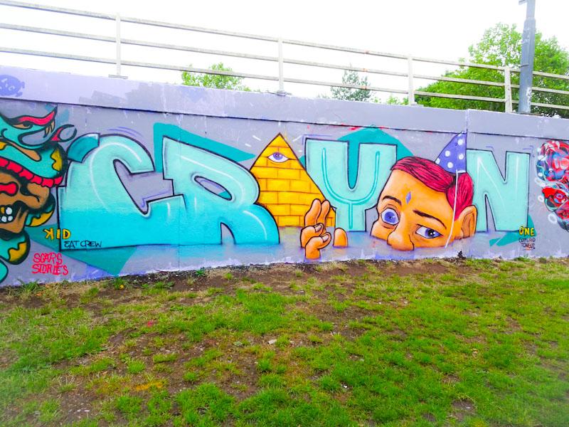 Kid Crayon, M32 roundabout, Bristol, June 2020