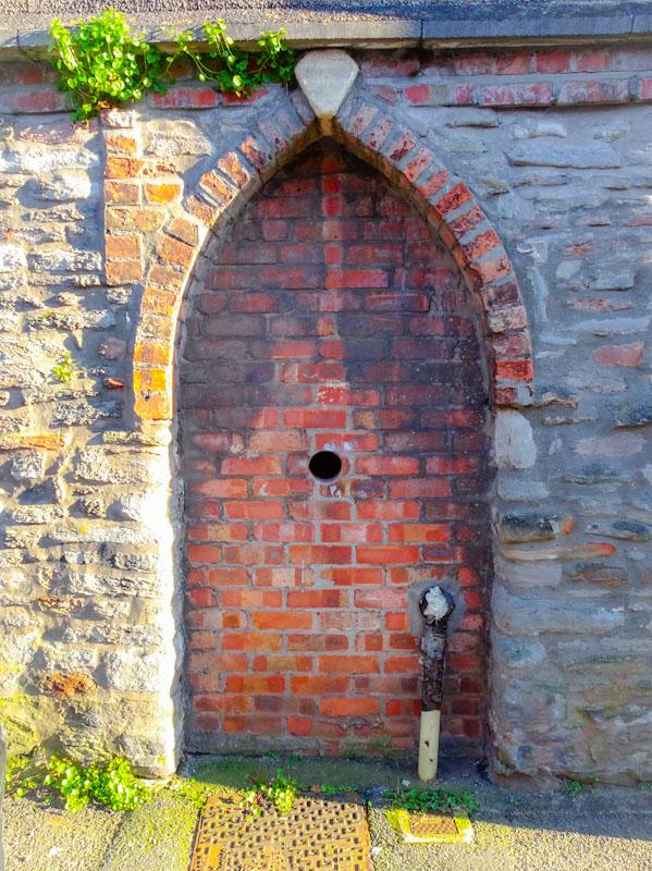 Former door bricked up, Montpelier, Bristol, March 2020