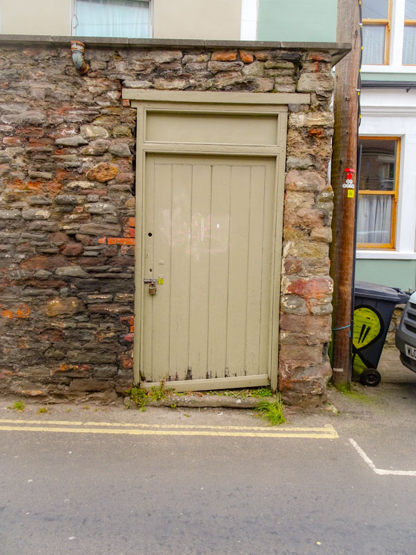 Back yard door (note the tagged wheely bin), St Werburghs, Bristol, March 2020