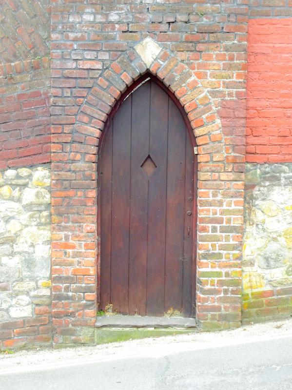 Garden door, St Werburghs, Bristol, March 2020