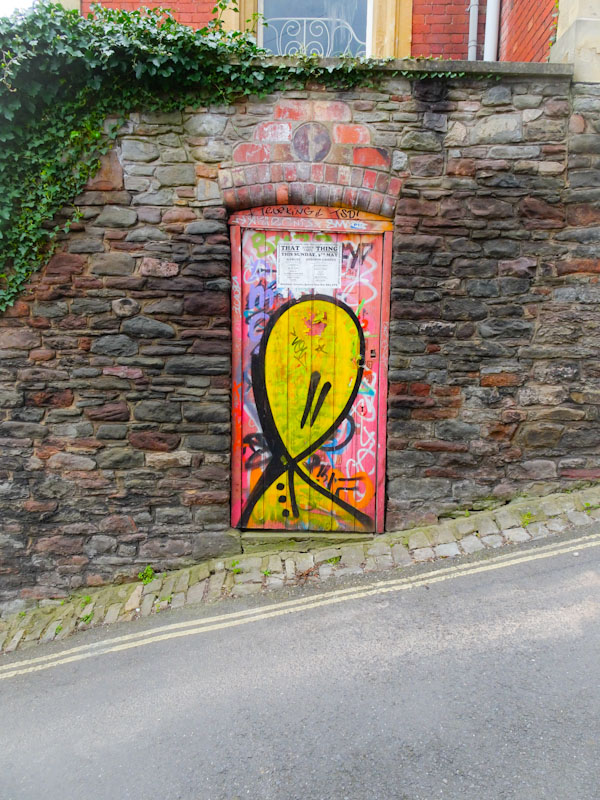 Tagged door (that tag again), St Werburghs, Bristol, March 2020