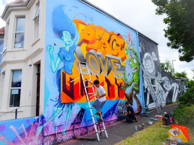 3Dom, Piro, Epok, Sepr and Feek, New Gatton Street, Bristol, June 2020