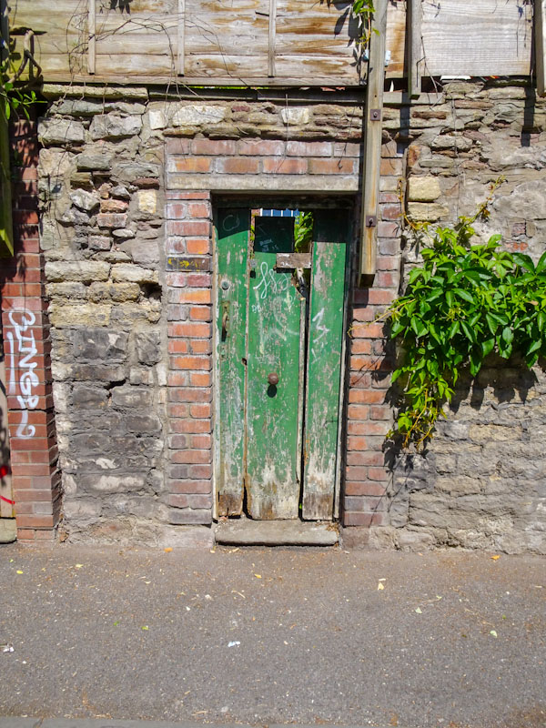 Back yard gate, Montpelier, Bristol, May 2020