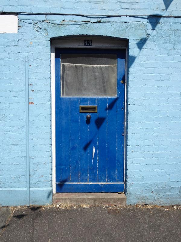 Front door in blue, Montpelier, Bristol, May 2020