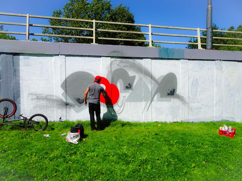 Decay, M32 roundabout, Bristol, July 2020