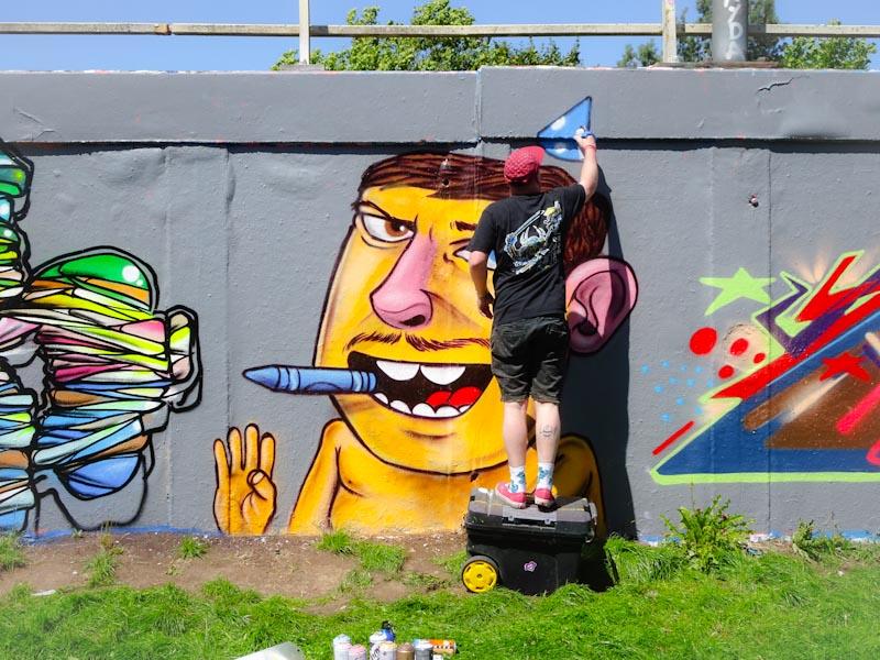 Kid Crayon, M32 roundabout, Bristol, July 2020