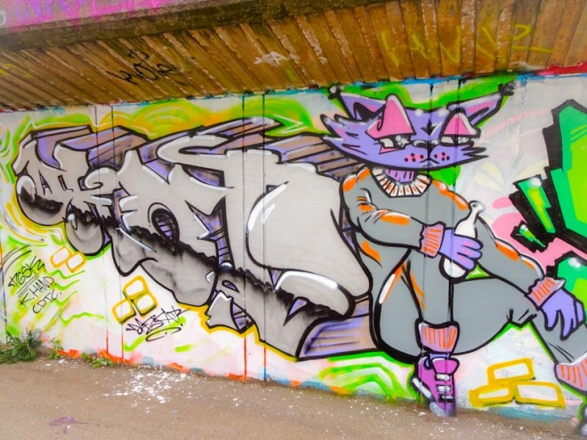 Daz Cat, M32 Cycle path, Bristol, August 2020