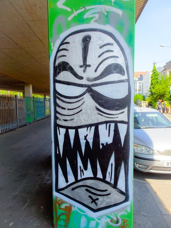Angry Face, M32 Spot, Bristol, August 2020