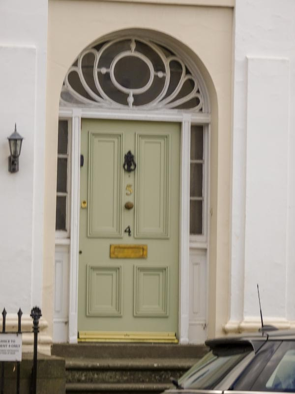 OK, so it's a little out of focus, but this door was just too good to leave out, Cheltenham, September 2020