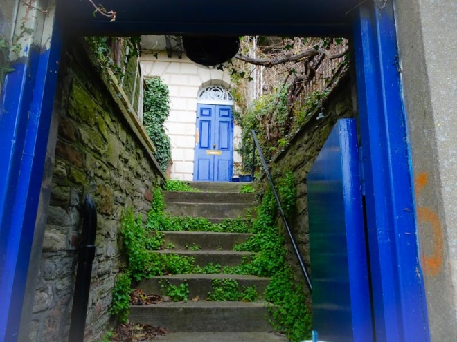 Blue door beyond a blue door, Montpelier, Bristol, March 2020