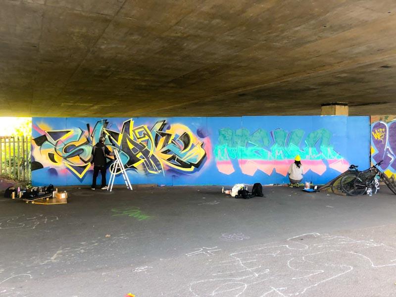 Smak and Mena, M32 Spot, Bristol, October 2020