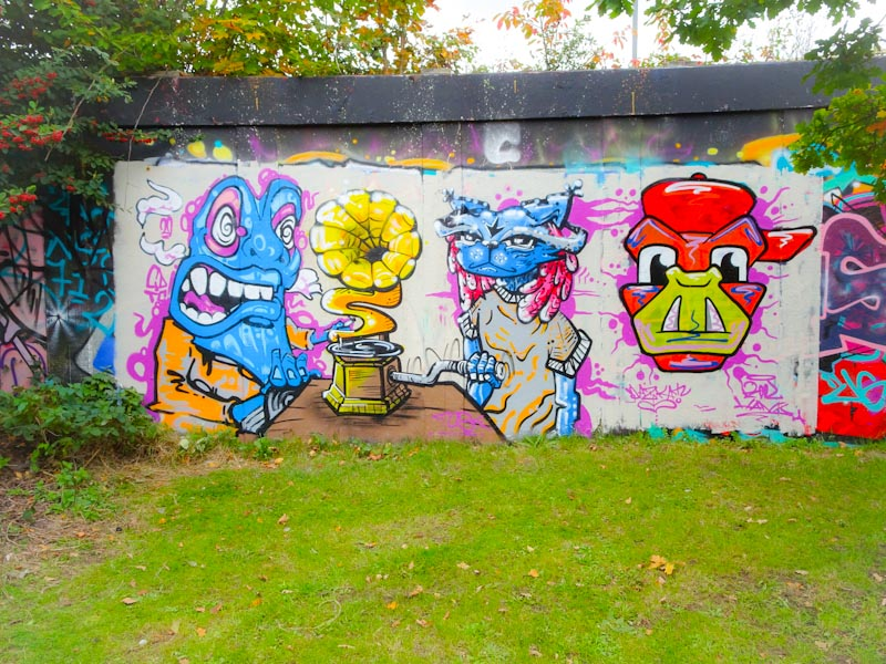 CD.TC, Daz Cat and Kool Hand, M32 roundabout, Bristol, October 2020