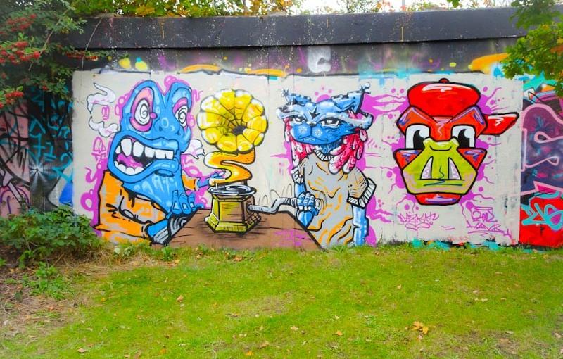 CD.TC, Daz Cat and Kool Hand, M32 roundabout, Bristol, October 2020