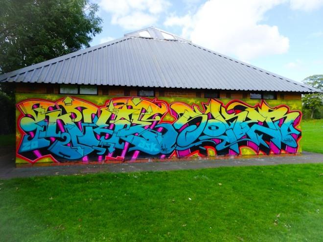 Inkie and Soker, Paint festival, Cheltenham, September 2020