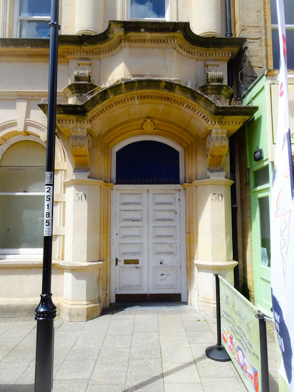 A once rather grand doorway, Dorchester, June 2019