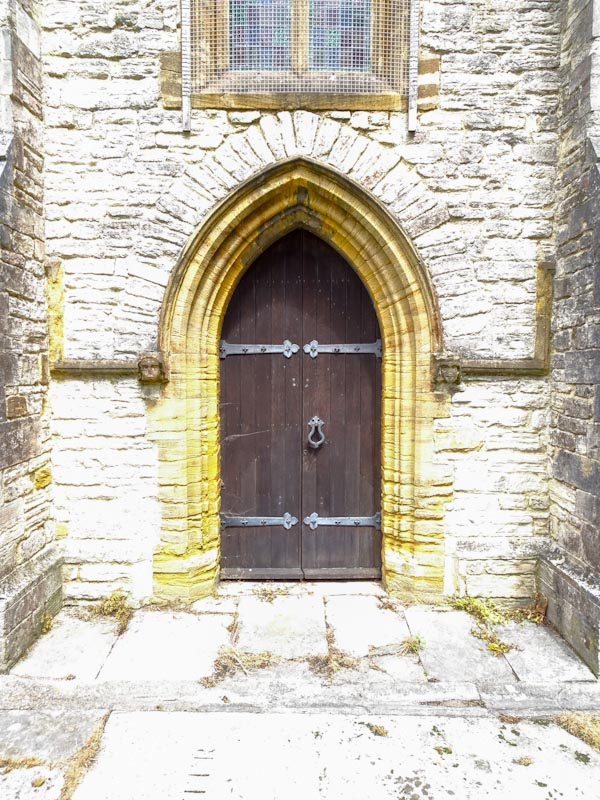 Church door, Dorchester, June 2019