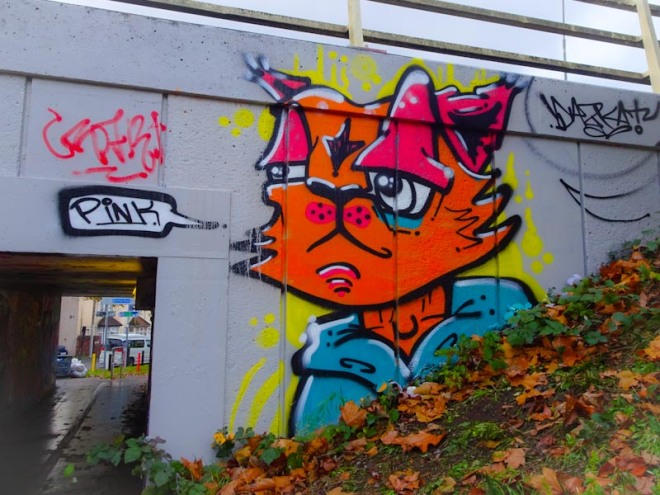 Daz Cat, M32 roundabout, Bristol, November 2020