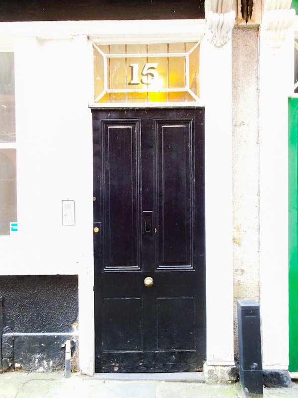 There is something about the 15 above the door, Bristol, September 2020