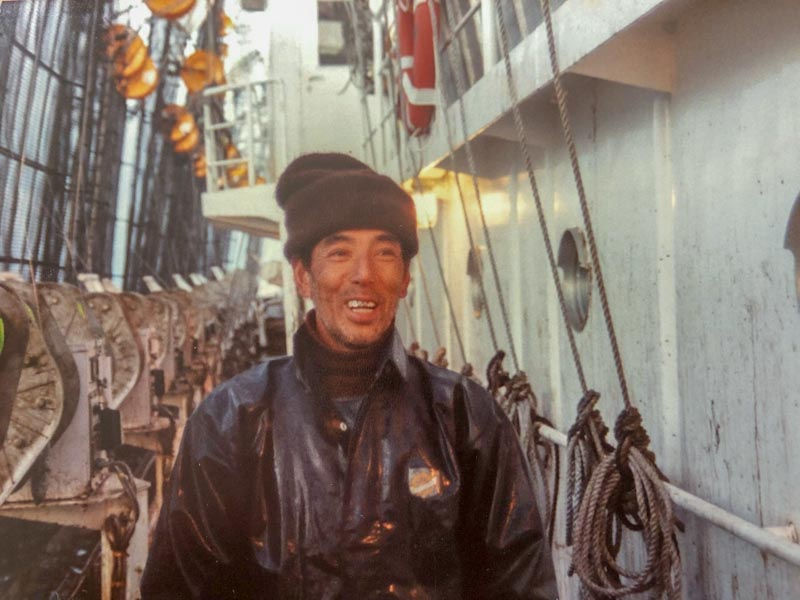 Abe, crewman, Koei Maru 30, Falkland Islands, July 1988