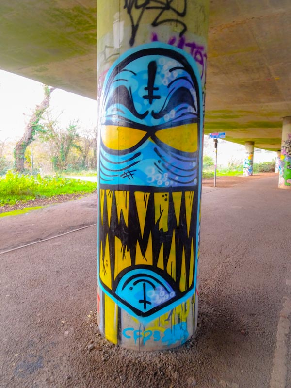Angry Face, Brunel Way, Bristol, December 2020
