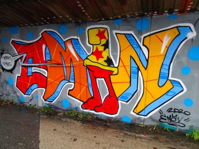 Eman, M32 cycle path, Bristol, December 2020