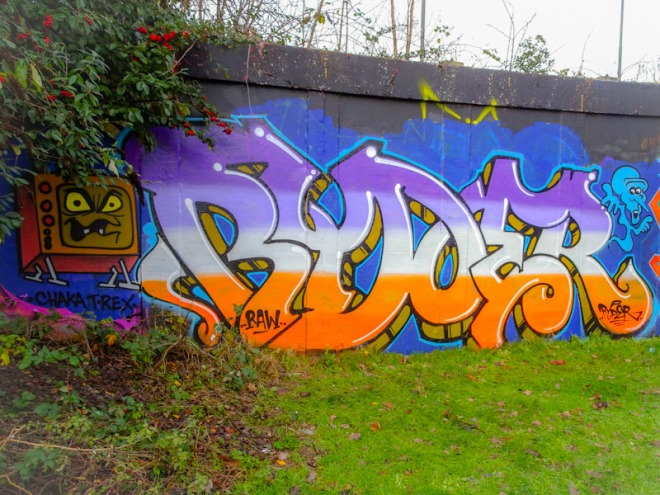 Ryder, M32 roundabout, Bristol, December 2020