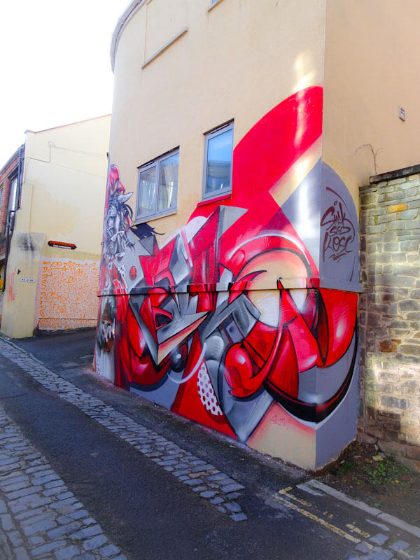 Sled One and Smak, Picton Lane, Bristol, January 2021
