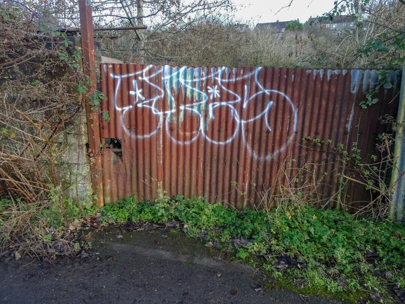 Corrugated Iron door, Boiling Wells Lane, Bristol, December 2020