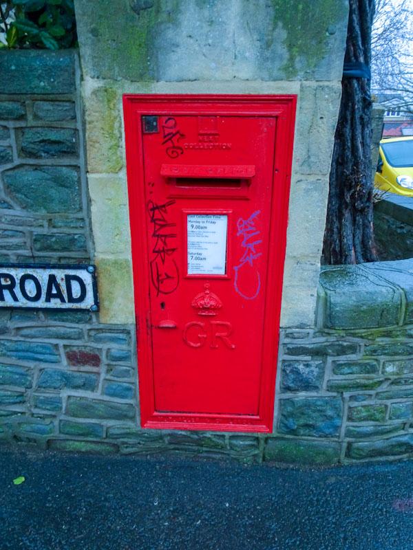 King George V post box, Redland, December 2020